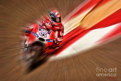 Photograph - Andrea Dovizioso Ducati Motogp by Blake Richards