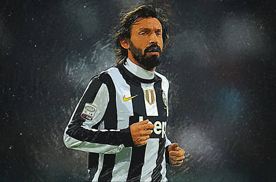Allegri Digital Art - Andrea Pirlo by Semih Yurdabak