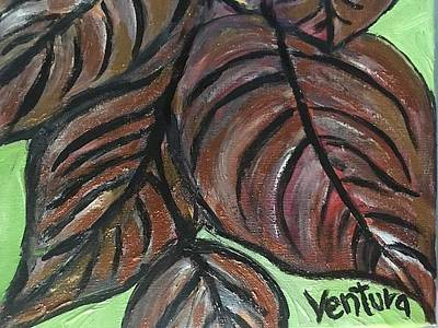 Painting - Andrea's Leaves - Fragments Of A  Dream by Clare Ventura