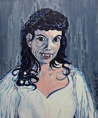 Painting - Andree Melly As Gina In The Brides Of Dracula  by Jonathan Morrill
