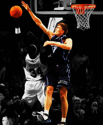 Soviet Union Mixed Media - Andrei Kirilenko by Brian Reaves