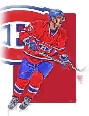 Montreal Canadiens Mixed Media - Andrei Markov Montreal Canadiens Oil Art by Joe Hamilton