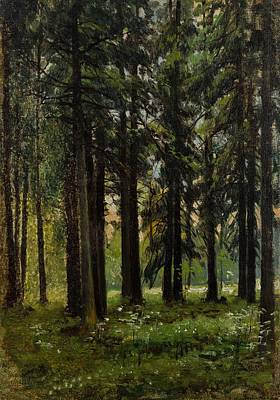 1880s Painting - Andrei Nikolaevich Shilder Russian 1861-1919 Fir Forest, 1880s-90s by Celestial Images