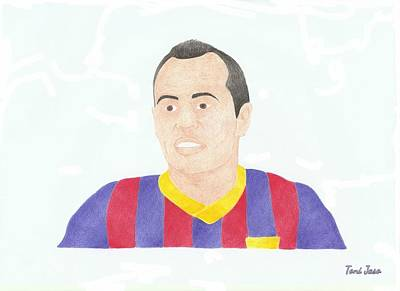 Drawing - Andres Iniesta by Toni Jaso
