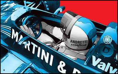 Digital Art - Andretti Racing by Gary Grayson