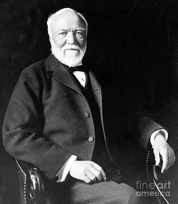 Photograph - Andrew Carnegie by American School