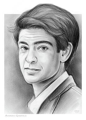 Drawings - Andrew Garfield by Greg Joens