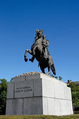 Photograph - Andrew Jackson Bronze - Jackson Square - New Orleans by Debra Martz