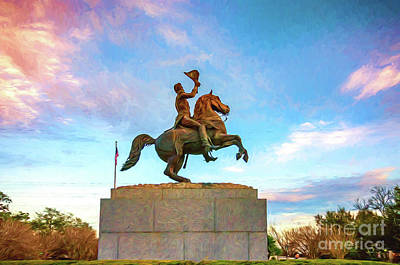 Photograph - Andrew Jackson _nola_painted by Kathleen K Parker
