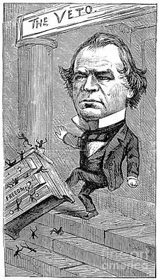 Andrew Johnson Cartoon Art Print by Granger