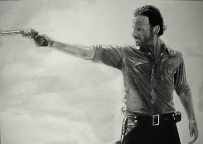 Grime Drawing - Andrew Lincoln by Stan Antonio