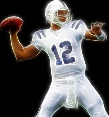 Andrew Luck Photograph - Andrew Luck - Indianapolis Colts Quarterback by Paul Ward