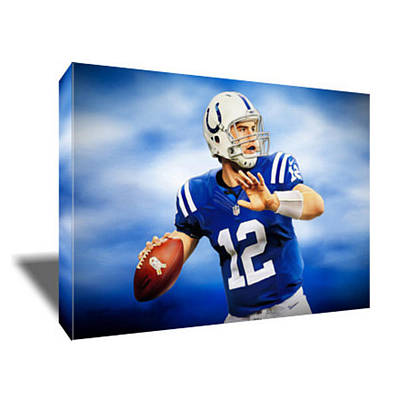 Andrew Luck Painting - Andrew Luck Canvas Art by Artwrench Dotcom