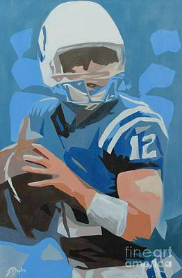Painting - Andrew Luck II by Steven Dopka