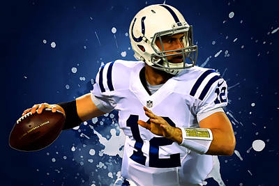 Andrew Luck Digital Art - Andrew Luck by Semih Yurdabak