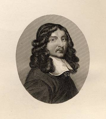 Metaphysical Drawing - Andrew Marvell 1621-1678 English Poet by Vintage Design Pics