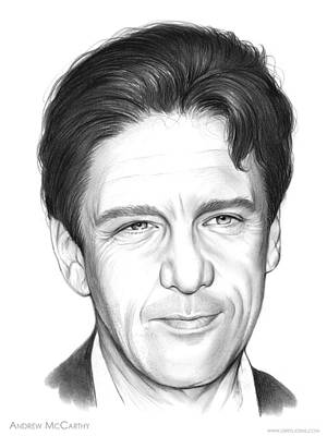 Andrew Drawing - Andrew Mccarthy by Greg Joens