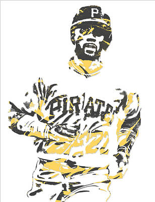 Pittsburgh Pirates Mixed Media - Andrew Mccutchen Pittsburgh Pirates Pixel Art 5 by Joe Hamilton