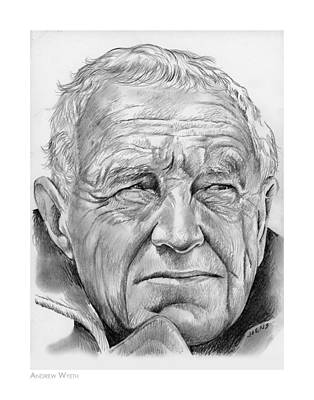 Painter Drawing - Andrew Wyeth by Greg Joens