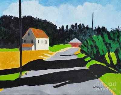 Cambridge Painting - Andrews Road, Cambridge,md by Lesley Giles