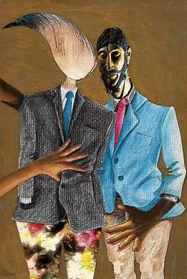 Couple Mixed Media - Androginality by Veronica Jackson