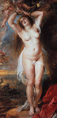 Counter Painting - Andromeda  by Peter Paul Rubens