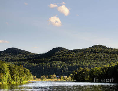Photograph - Androscoggin River And Distant Hills, Rumford, Maine #00200 by John Bald