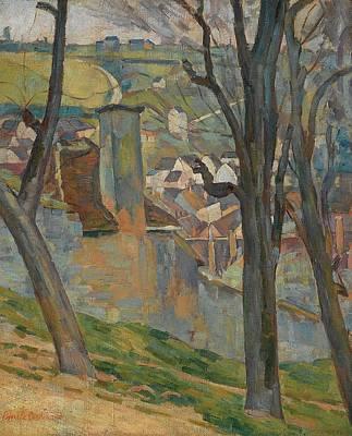 Thunder Painting - Andscape Near Thunder by Emile Bernard