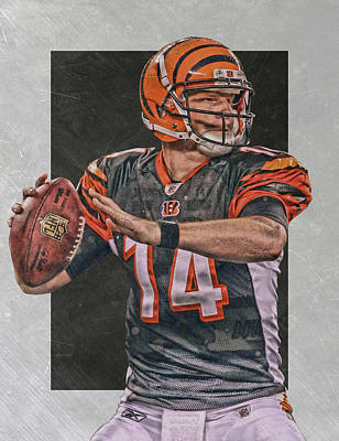 Andy Dalton Cincinnati Bengals Art Art Print by Joe Hamilton