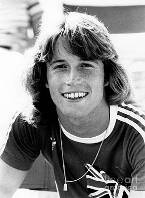 Print featuring the photograph Andy Gibb 1977 by Chris Walter