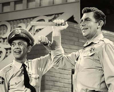 Andy Griffith And Don Knotts 1970 Print by Mountain Dreams