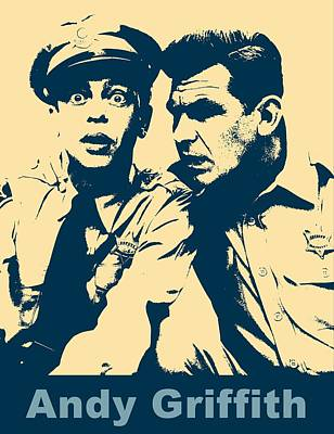 Police Officer Digital Art - Andy Griffith Poster by Dan Sproul