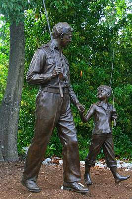 Photograph - Andy Griffith Statue by Kathryn Meyer