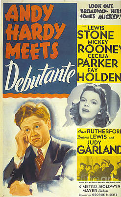 Debutante Painting - Andy Hardy Meets Debutante by Nostalgic Prints