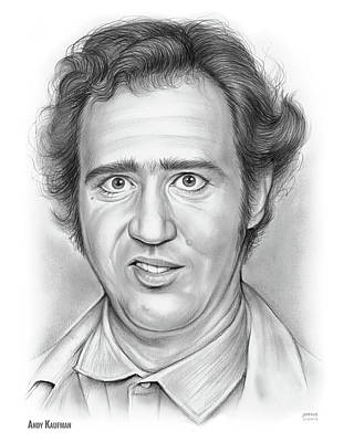 Drawings Royalty Free Images - Andy Kaufman Royalty-Free Image by Greg Joens