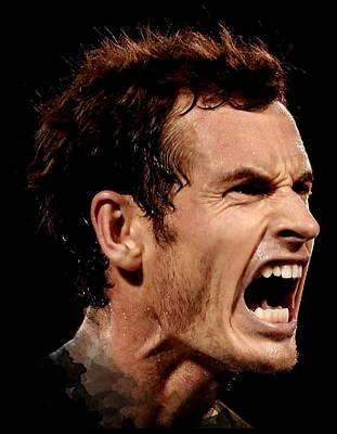 Andymurray Photograph - Andy Murray Scream by Andree Soka