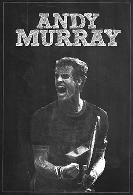 Serena Williams Digital Art - Andy Murray by Semih Yurdabak