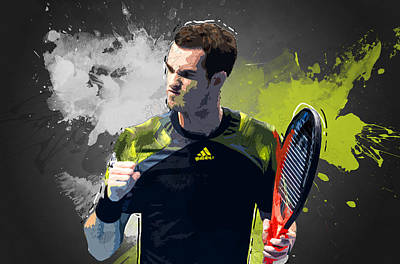 Andy Murray Art Print by Semih Yurdabak