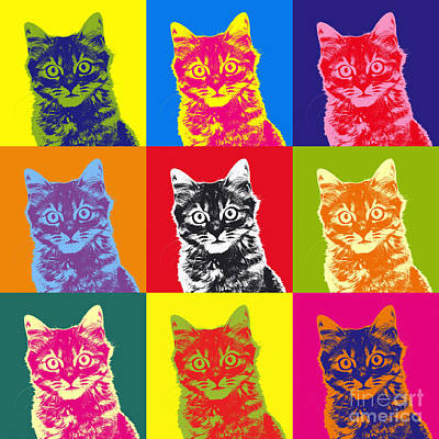 Andy Warhol Cat Art Print