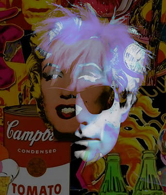 Marilyn Mixed Media - Andy Warhol Collectioin by Marvin Blaine