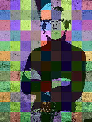 Hollywood Mixed Media - Andy Warhol Hollywood Pop Art Patchwork Portrait Pop Of Color by Design Turnpike