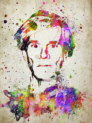 Andy Warhol In Color Art Print by Aged Pixel