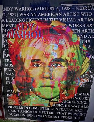 Photograph - Andy Warhol by Joan Reese