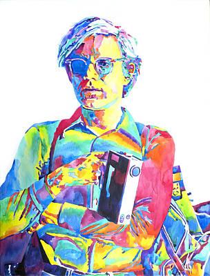Warhol Painting - Andy Warhol - Media Man by David Lloyd Glover
