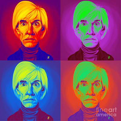 Digital Art - Andy Warhol On Andy Warhol by Rob Snow