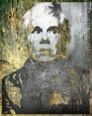 Mixed Media - Andy Warhol by Tony Rubino