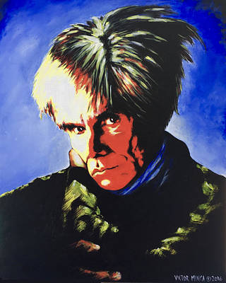 Painting - Andy Warhol by Victor Minca