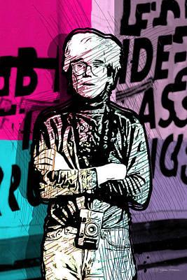 Digital Art - Andy Warhol With Camera - Tribute No. 1 by Serge Averbukh