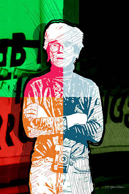 Digital Art - Andy Warhol With Camera - Tribute No. 3 by Serge Averbukh