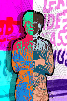 Digital Art - Andy Warhol With Camera - Tribute No. 4 by Serge Averbukh